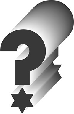Image result for jewish question mark