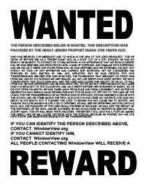 See Wanted Poster Get A Reward