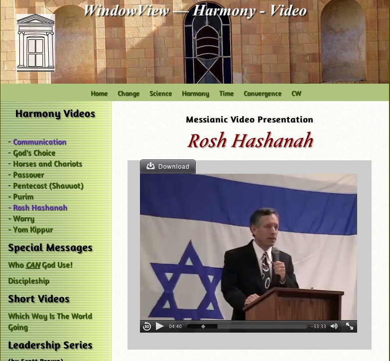 Rosh Hashanah Video Page