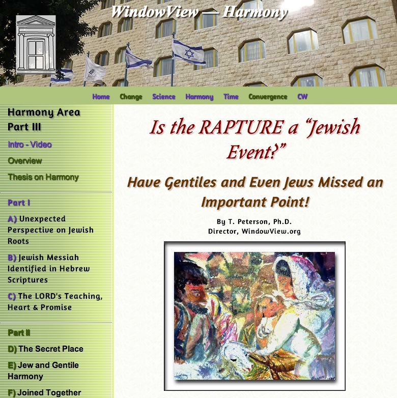 Is the Rapture a Jewish High Holy Day Event?